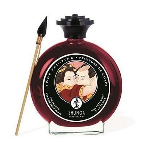 Shunga Shunga Body Paint Fresa/Cava, pinta a tu pareja con esta pintura tan afrodisiaca, agudiza tus sentidos Body Paint Fresa/Cava 100 ml