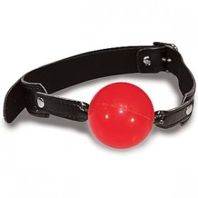 Mordaza con bola roja