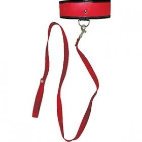Correa y collar rojo