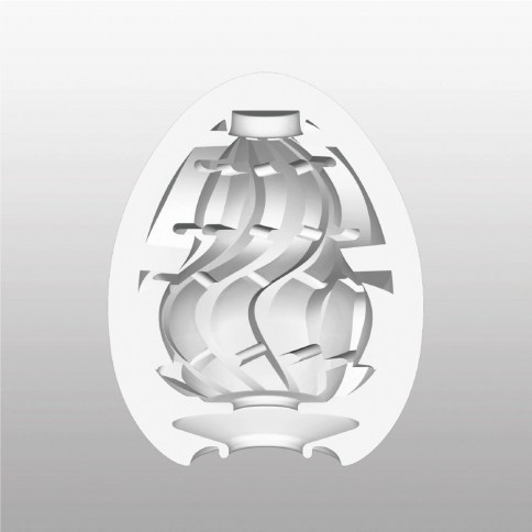 Tenga Relieve con forma de espiral que brinda una atrapante estimulación. Masturbador de un solo uso, estriado. Tenga Egg Twister