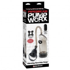 Pipedream Bomba de ereccion vibradora super prieta de la sub marca Pump Worx de Pipedream PD3268-23 Bomba de ereccion vibradora super prieta