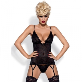 Obsessive corset diamond negro