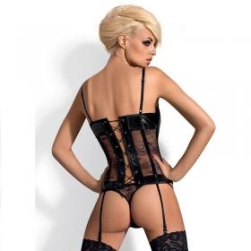 Obsessive corset wetlook hipnotica