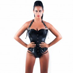 Queen lingerie Queen corsets ágatha leather black disponible en varias tallas, encuetra la tuya y disfruta de una noche distinta Queen corsets ágatha leather negro t-s