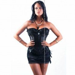 Queen lingerie Queen corset epìdot black 3pcs disponible en varias tallas, encuetra la tuya y disfruta de una noche distinta Queen corset epìdot negro 3pcs