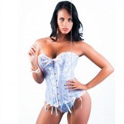Queen lingerie Queen corset rubí blue/purple disponible en varias tallas, encuetra la tuya y disfruta de una noche distinta Queen corset rubí azul / lila