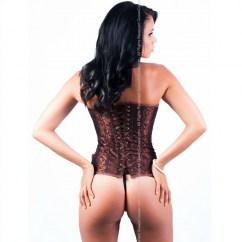 Queen lingerie Queen corset bira grown disponible en varias tallas, encuetra la tuya y disfruta de una noche distinta Queen corset bira marron