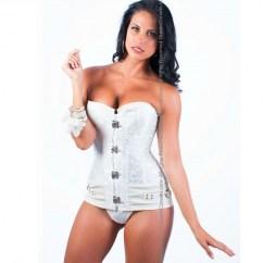Queen lingerie Queen corset douros white disponible en varias tallas, encuetra la tuya y disfruta de una noche distinta Queen corset douros blanco