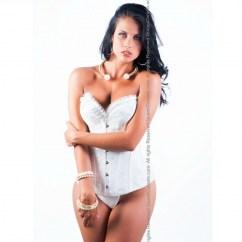 Queen lingerie Queen corset darwin whie disponible en varias tallas, encuetra la tuya y disfruta de una noche distinta Queen corset darwin blanco