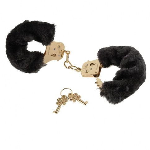 Pipedream Gold esposas de peluche de Pipedream, marca lider en bondage Gold esposas de peluche