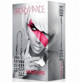 Bad Romance White Translucet Handcuffs With Metal Nails