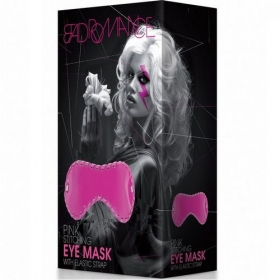 Bad Romance Pink Stitchung Eye Mask With Elstic Strap