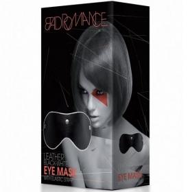 Bad Romance Leather Black-White Eye Mask With Elastic Strap