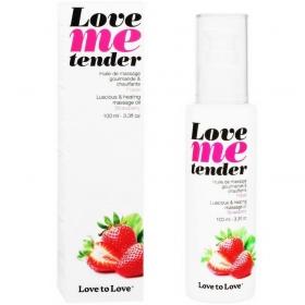 Me tender masaje&efecto calor sabor a fresa 100ml