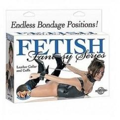Pipedream Fetish bondage cadena esposas pies y cuello. de Pipedream Máscaras y esposas Fetish bondage cadena esposas pies y cuello.