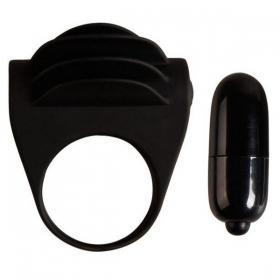 Chester anillo vibrador negro