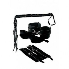 Pipedream Fetish fantasy kit bondage de cuero premium de Pipedream Máscaras y esposas Fetish fantasy kit bondage de cuero premium