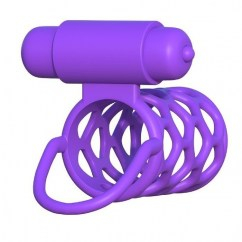 . Pipedream Fantasy c-ringz vibrating couple cage de Pipedream, marca premium C-ringz anillo jaula vibrador lila .