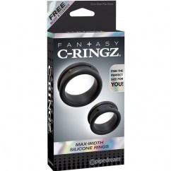 Pipedream Fantasy c-ringz max/widht silicone rings de Pipedream, marca premium C-ringz anillas silicona max widht