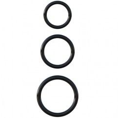 Pipedream Fantasy c-ringz silicone 3 ring stamina set de Pipedream, marca premium C-ringz set anillas silicona stamina