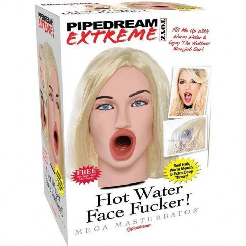 Pipedream Extreme toyz rostro 3d rubia real para agua templada Extreme toyz rostro 3d rubia real para agua templada