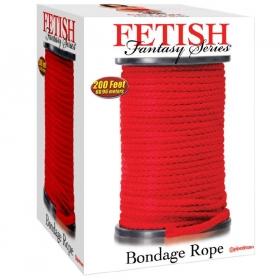 Bondage cuerda seda rojo 60 metros