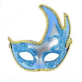 Mascara veneciana acabado azul