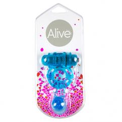 Alive Alivé anillo con vibracion color azul. de Alive D-194894 Twin Vibe