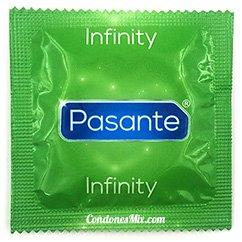 Pasante Preservativo de efecto retardante, contiene Lidocaína, para facilitar una relación más duradera. Retardante Infinity