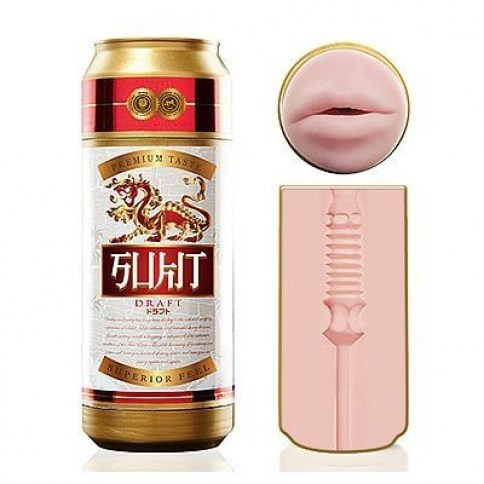 Fleshlight Masturbador en lata con entrada oral. Un producto original de carcasa y discreto para guardarlo. Lata Sukit Draft