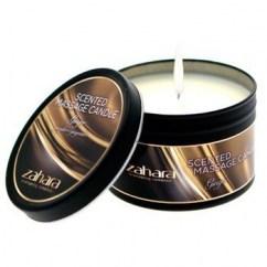 Zahara Vela con fuerte e intenso aroma a jengibre. Ponla sobre el cuerpo de tu amante y siente como suaviza e hidrata la piel. Vela Jengibre