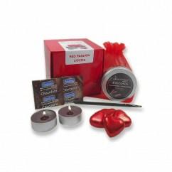 CM Maravilloso kit con sabor a chocolate, disfruta de velas, bombones, preservativos y pintura, todo de chocolate. Kit Pasion chocolate