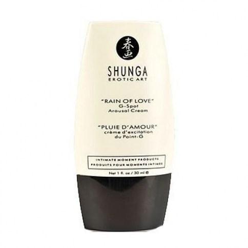 Shunga Crema pensada para la estimulación del punto G. Compatible con los preservativos. Lluvia de Amor Crema Punto G