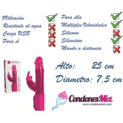 Marc Dorcel Vibrador conejito, para aquellas mujeres que quieren alcanzar el orgasmo de forma rápida, estimulante y potente. Conejito Orgasmico