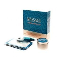 Keepher Games 1 vela de masaje (se funde convirtiendose en aceite de masaje) y 24 cartas de masajes componen un juego para iniciarse en el placer de los masajes. Massage Seductions