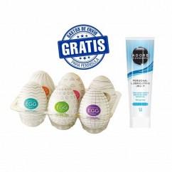 CM Oferta valida hasta agotar existencias, lubricante neutro Durex + 6 huevos tenga masturbadores. Ofertón Huevera + Lubricante