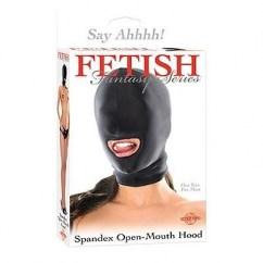 Pipedream Cómoda máscara unisex. Permite leve visión mientras altera tus sentidos, fácil transpiración. Máscara apertura boca