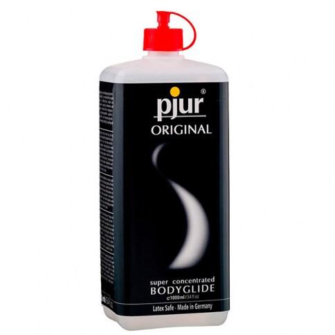 Pjur Lubricante recomendado para la lubricación y el masaje por su suavidad y larga duración lubricante Original 1000 ml