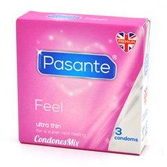 Pasante Ultrafino, maximiza el contacto, olvida que llevas condón, incrementa la sensación. Con forma recta para mayor ajuste. Siente más, disfruta más. Sensitivos 3 uds