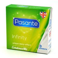 Pasante Preservativos de efecto retardante, contiene lidocaína, para facilitar una relación más duradera. Sin perder potencia, podrás aguantar más. Retardante Delay 3 uds