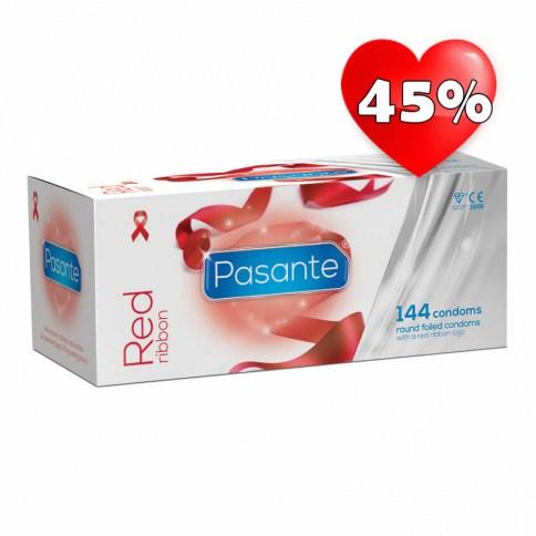 Pasante Los preservativos más solidarios con forma anatómica de la marca Pasante. Con deposito y lisos. Condones muy cómodos. Lazo Rojo 144 uds