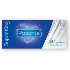 Pasante Preservativo de la marca Pasante, ahora más grande, más largo y más ancho que cualquier otro. Competencia de los my.size 69 mm. Super King XXL 144 ud