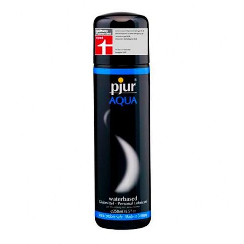 Pjur Lubricante médico de excelente calidad súper concentrado a base de agua para uso vaginal y/o anal Aqua 250 ml