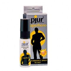 Pjur Spray retardante con propiedades para prolongar el clímax del chico y prolongar las relaciones sexuales tanto como desees. Superhero Spray Retardante