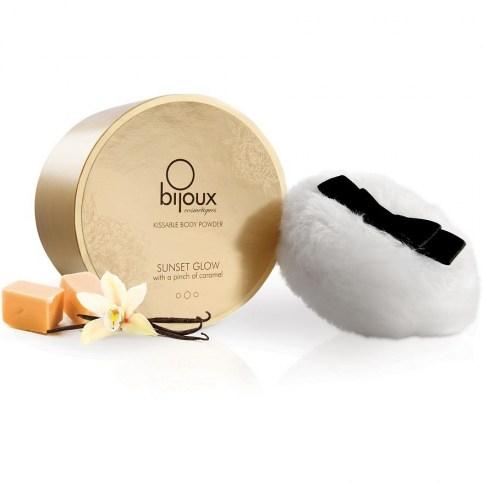 Bijoux Indiscrets Polvos corporales que dejarán tu cuerpo con un sabor muy agradable y luminoso. Polvos Body Glow 45 gr