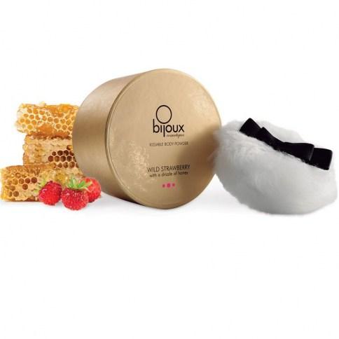 Bijoux Indiscrets Sabrosos polvos de miel con aroma Fresa salvaje que dejará un aroma increíble en tus labios. Polvos Fresa 45 gr