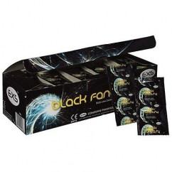 EXS Preservativo de color negro cumplirá vuestras fantasías más oscuras. De forma recta y lisa. Black Fantasy 144 uds