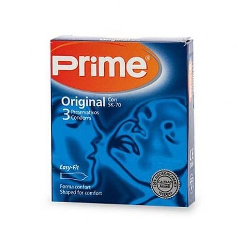 Prime Preservativo de fórmula exclusiva para la máxima sensibilidad, transparente, liso y lubricado. Forma anatómica. Sk-70 Sensitivo 3 uds