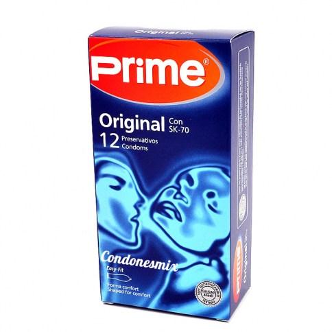 Prime Preservativo de fórmula exclusiva para la máxima sensibilidad, transparente, liso y lubricado. Siente a tu pareja más cerca gracias a su fino grosor. Sk-70 Sensitivo 12 uds