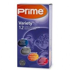Prime Condones Prime caja surtida. Originales, nuda, intensity y sabores. Tendrás todo tipo de preservativos en una misma caja. Marca premium. Variety 12 uds